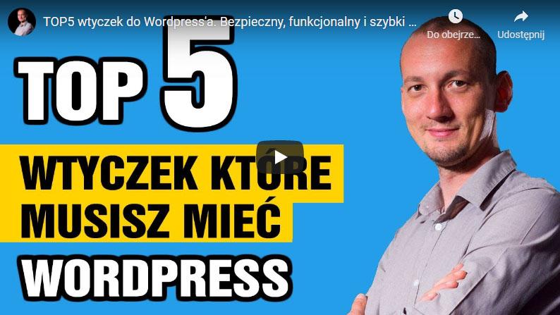 TOP 5 wtyczek doWordPress'a