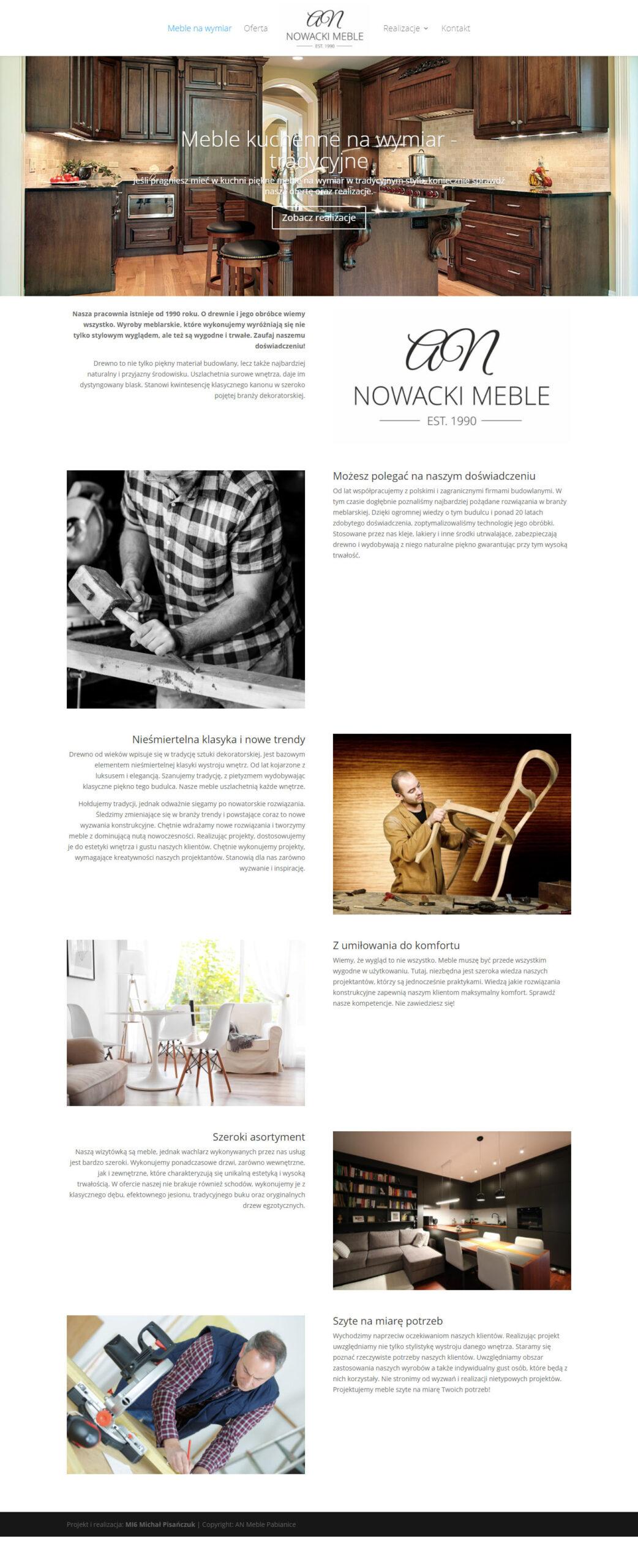 AN Meble – strona internetowa