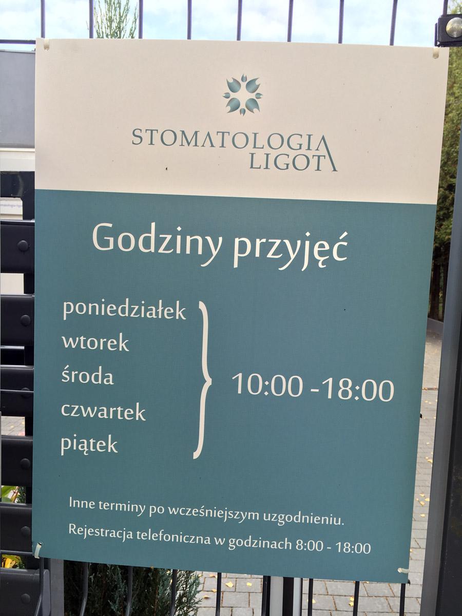 Stomatologia Ligota – Tablice zewnętrzne