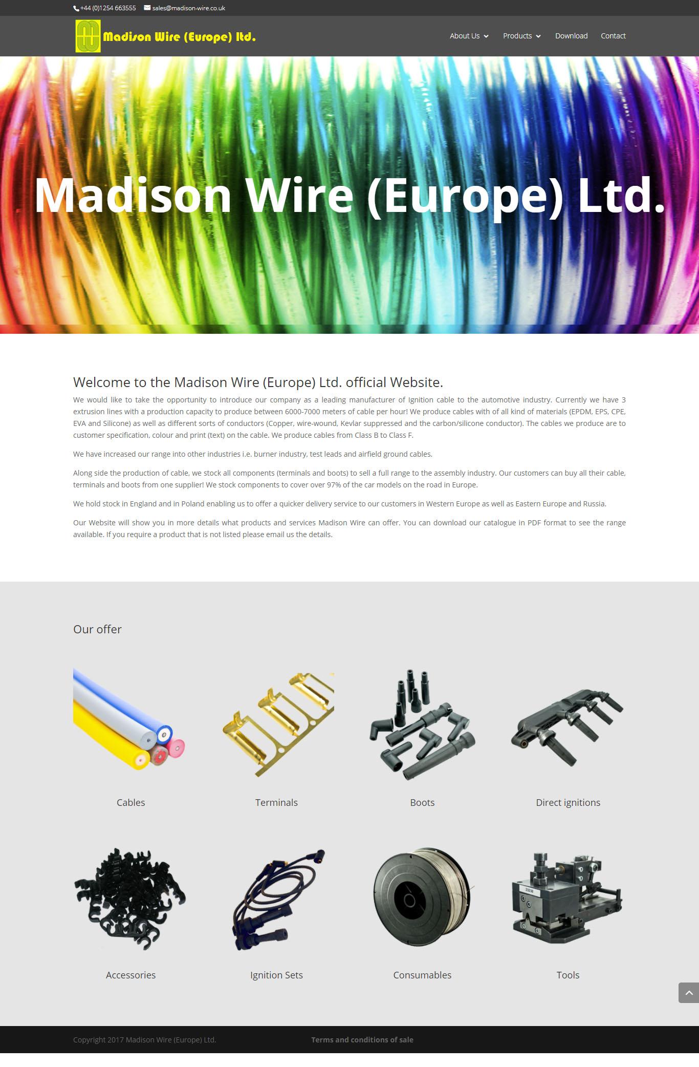 Madison Wire – strona internetowa