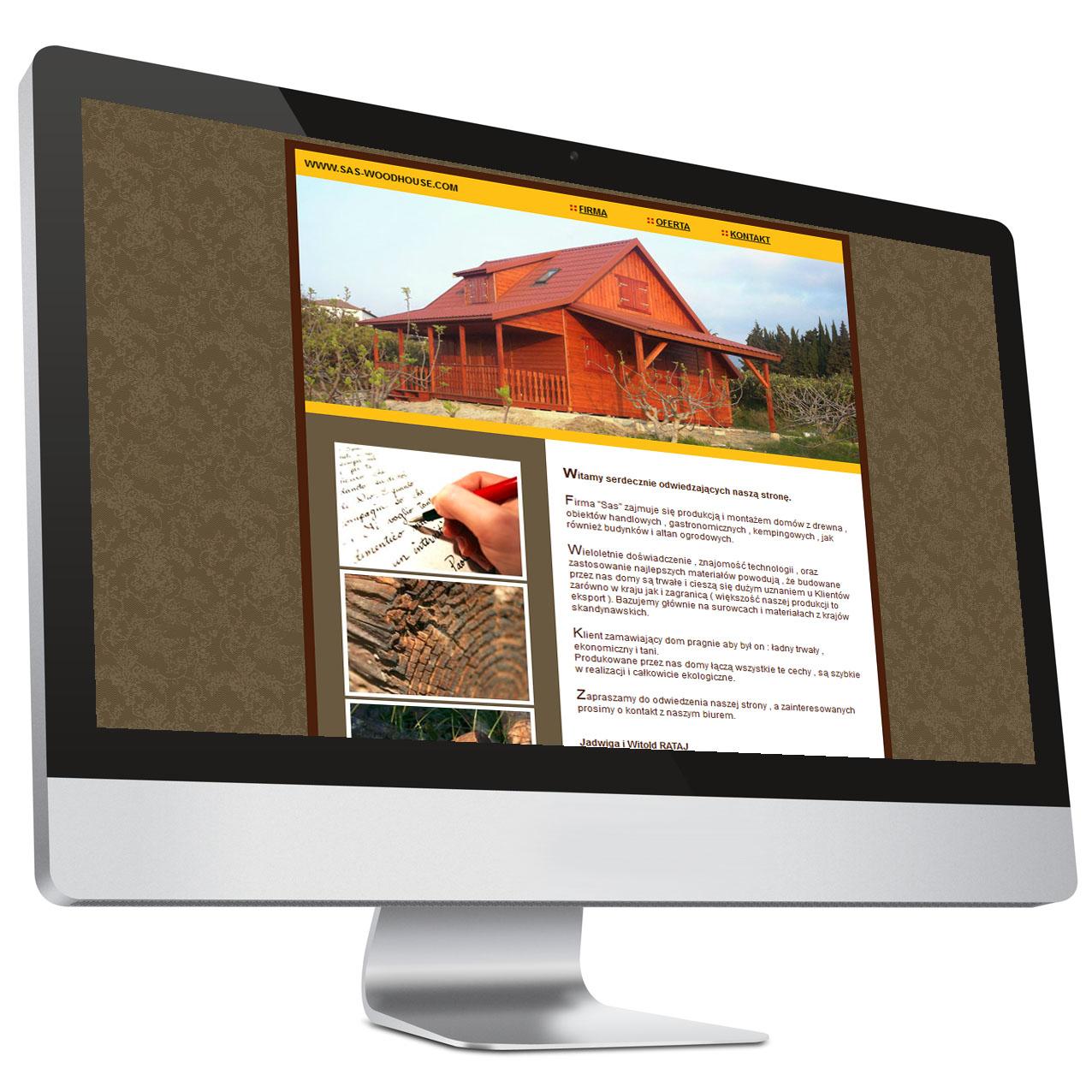 Domy zdrewna – strona internetowa