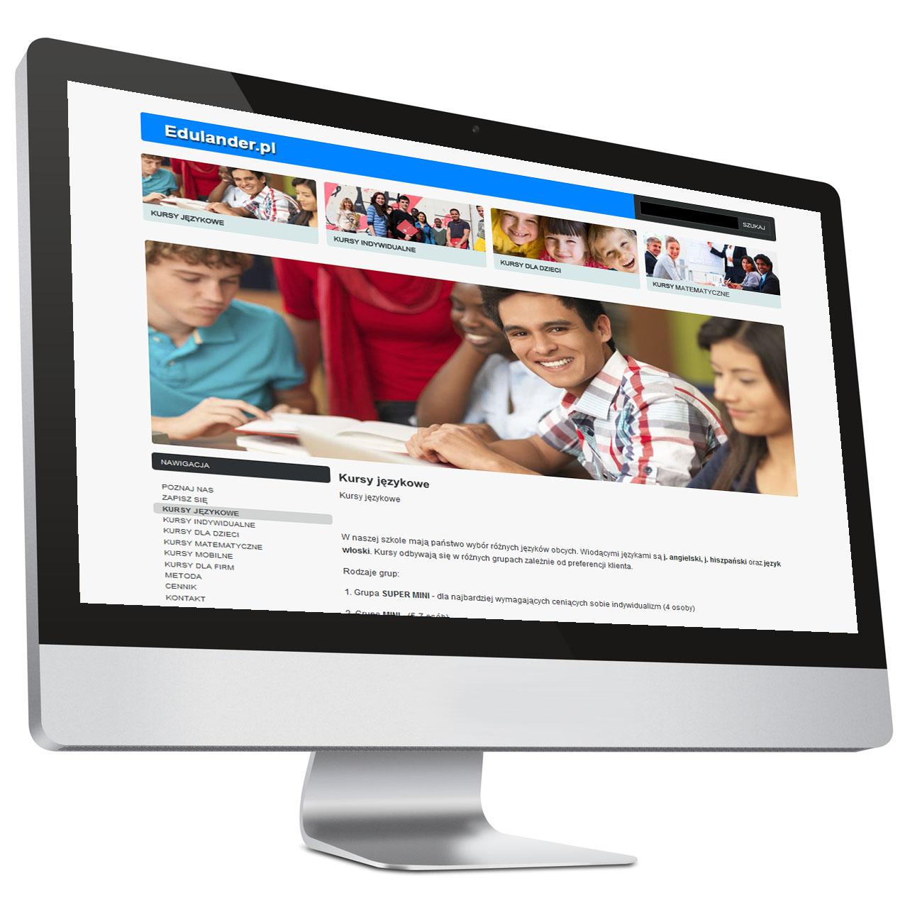 Strona internetowa zkursami