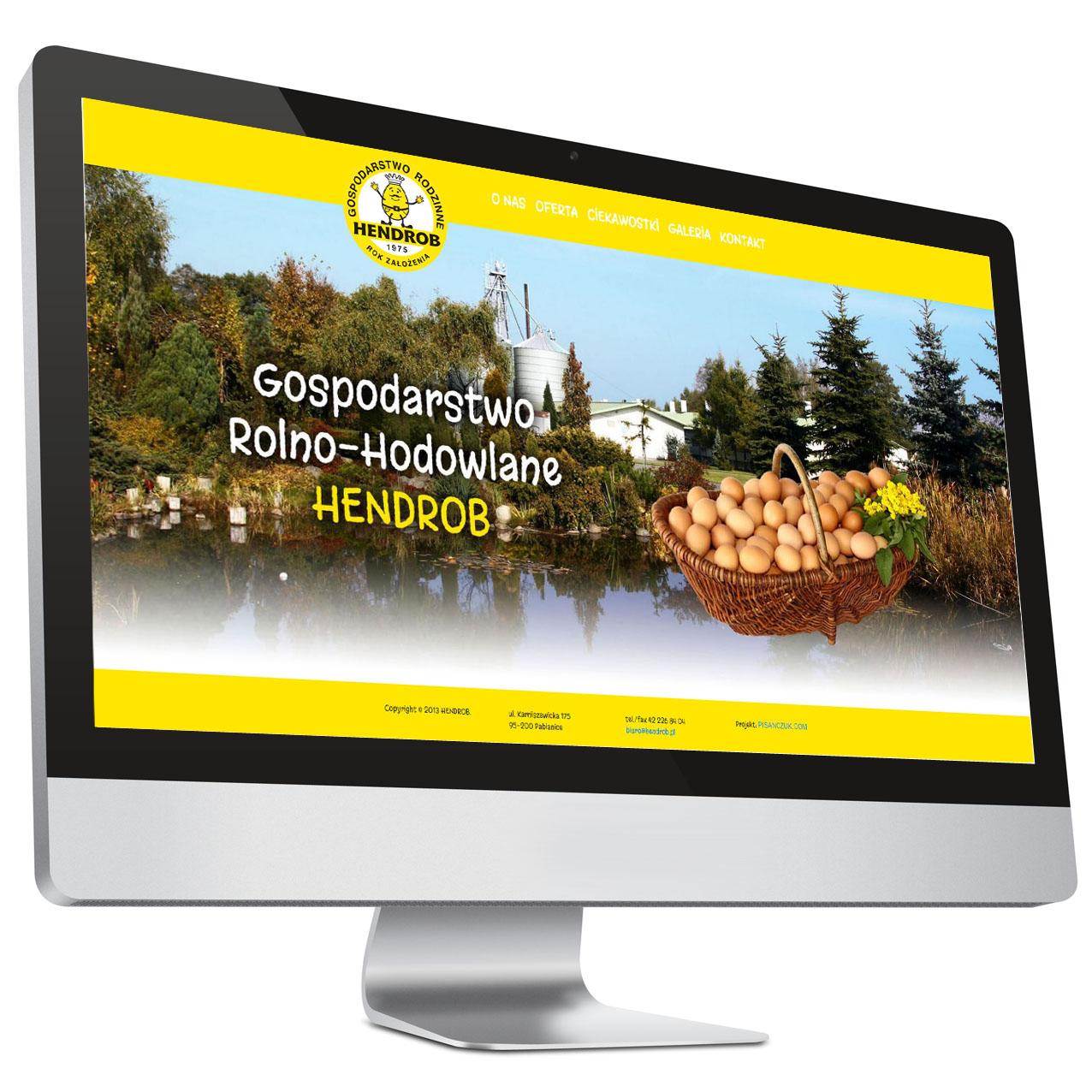 Hendrob – Strona internetowa