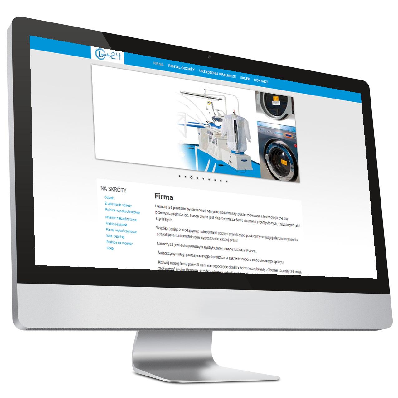 Pralnie – Strona internetowa