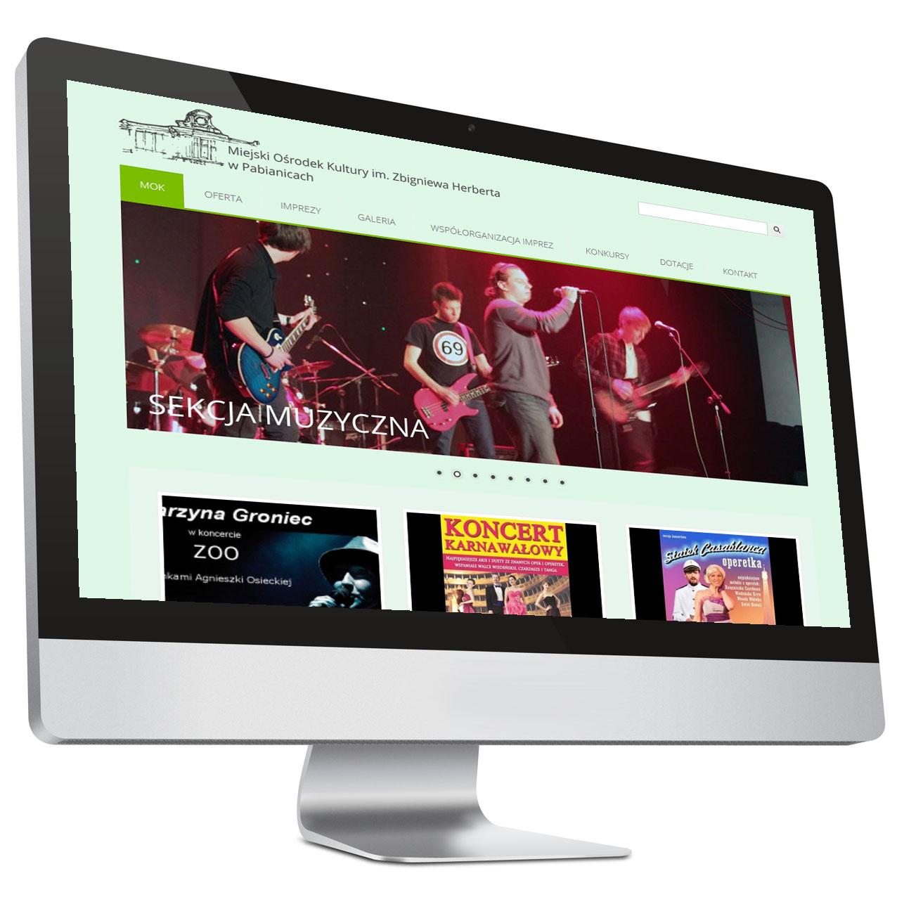 Miejski Ośrodek Kultury wPabianicach – Strona internetowa