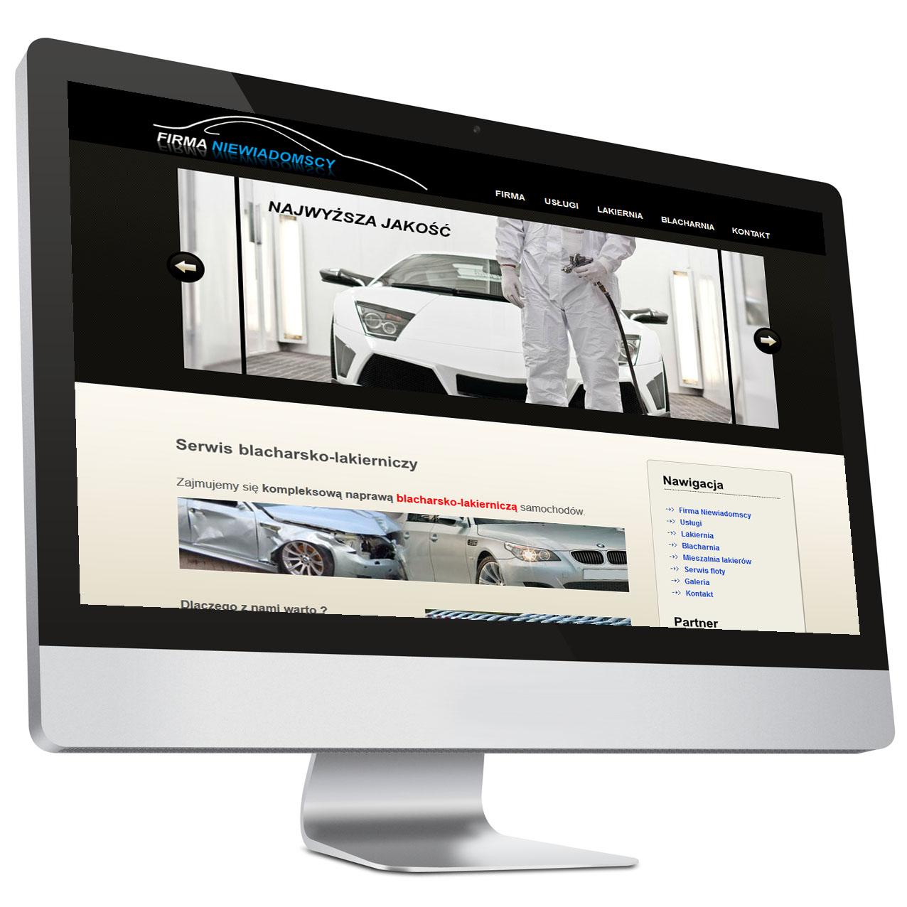 Blacharz / lakiernik – Strona internetowa