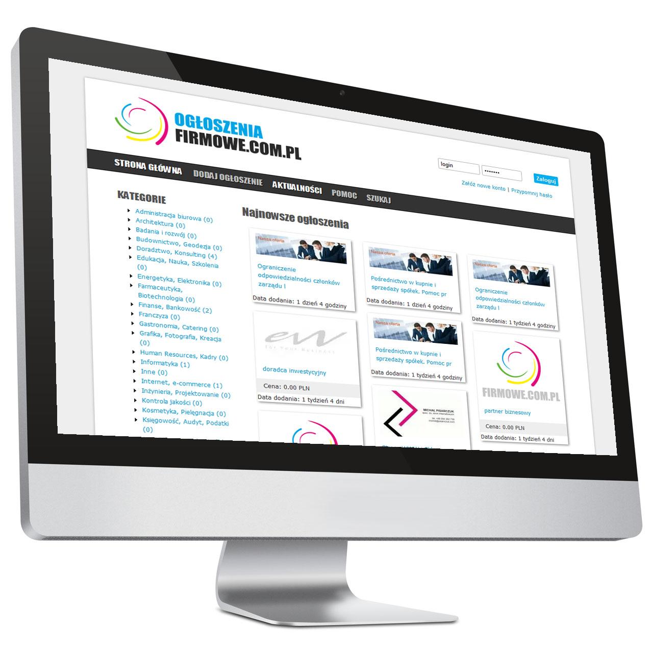 Platforma ogłoszeniowa – Strona internetowa