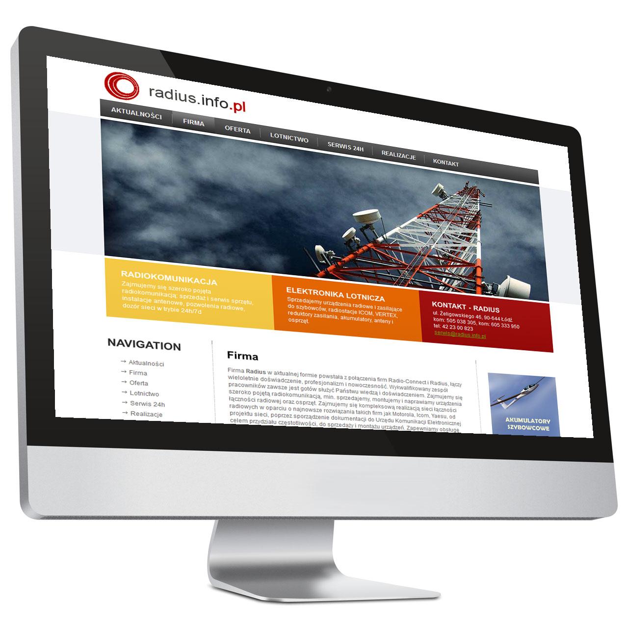Strona internetowa – Radius