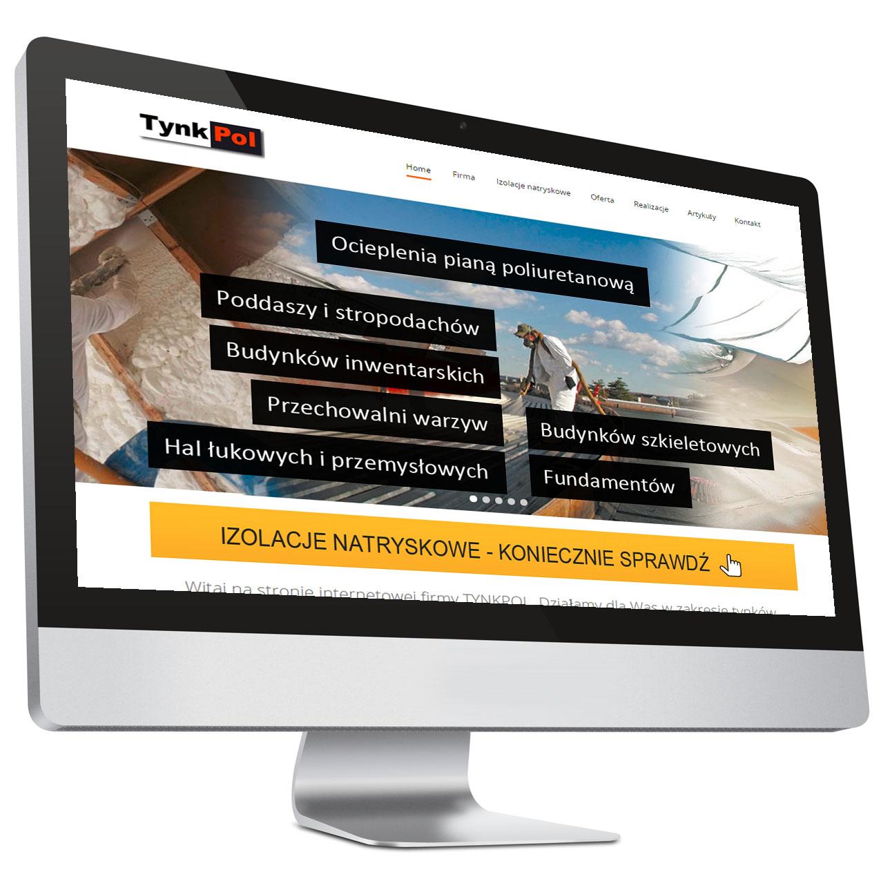 Strona internetowa firmy TynkPol