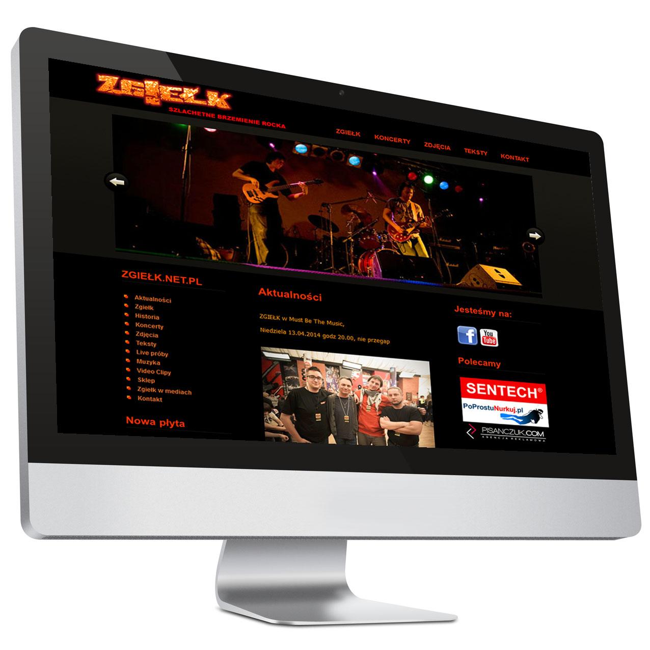 Strona internetowa zespołu Zgiełk